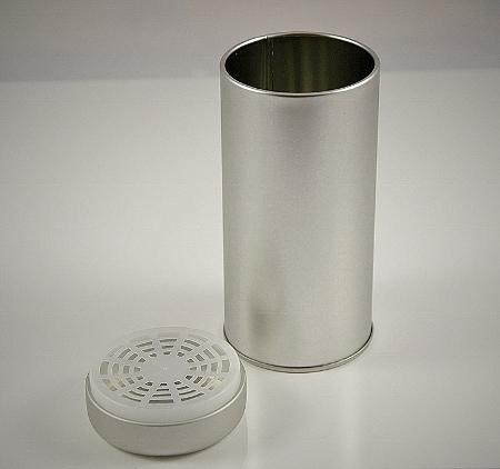 Teedosen 'Glory' 130g - Metall, rund, silbermatt