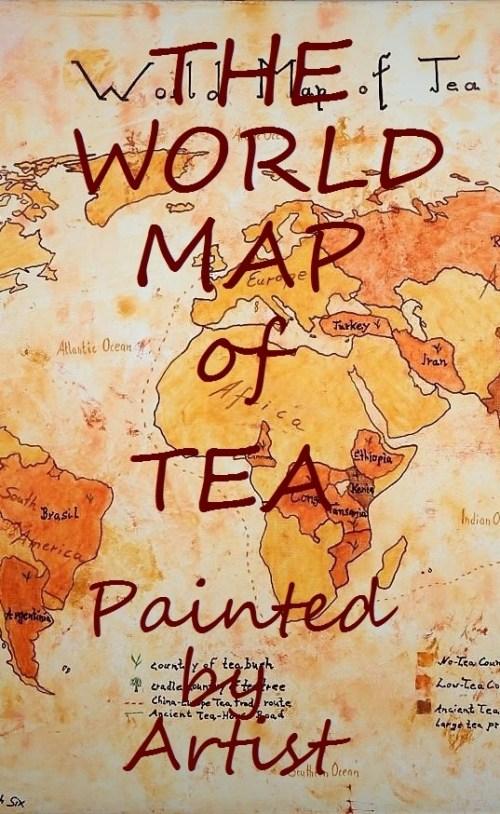 Die Weltkarte des Tees - Handgemalt : Produktbild