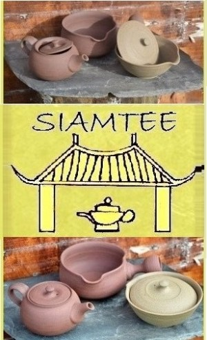 SiamTee Signature Teekeramik Ensemble - Yixing-Teekanne, Shiboridashi, Yuzamashi - 100% handgearbeitet, unglasiert