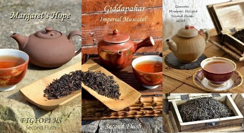 3 Darjeeling Second Flushes : Goomtee, Giddapahar and Margaret's Hope