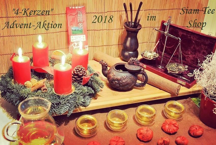 """4-Kerzen"" Advent-Aktion 2018 im Siam Tee Shop"