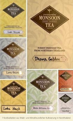 """""""7 Kostbarkeiten"""" - Tee aus Wald- und Klimafreundlichem Anbau in Nordthailand - Sampler"""