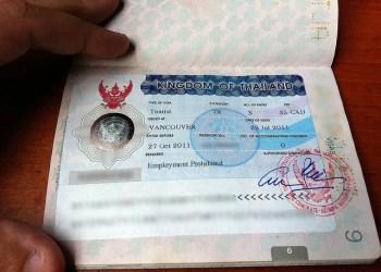 En plus de leur visa certains visiteurs ont récemment dû démontrer qu'ils possédaient au moins 20.000 baht