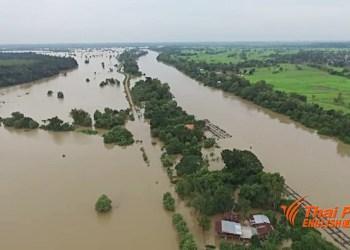 Image des inondations qui ont touchées le nord-est de la Thaïlande récemment