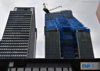 """La tour """"penchée"""" actuellement en construction"""
