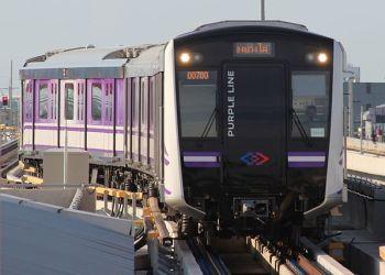 Une rame du MRT violet
