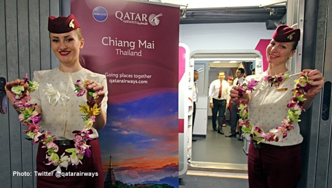 Qatar Airways a inauguré sa nouvelle liaison directe entre Doha et Chiang Mai