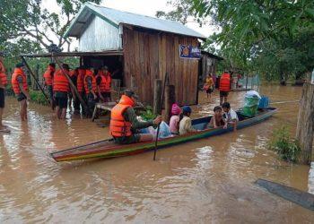 25 000 Cambodgiens évacués après la rupture du barrage au Laos