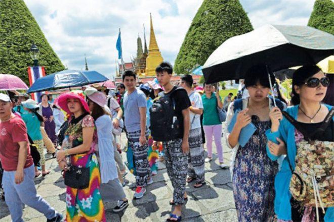 Les arrivées de touristes chinois en Thaïlande ont diminué de près de 20 % en octobre par rapport à l'an dernier