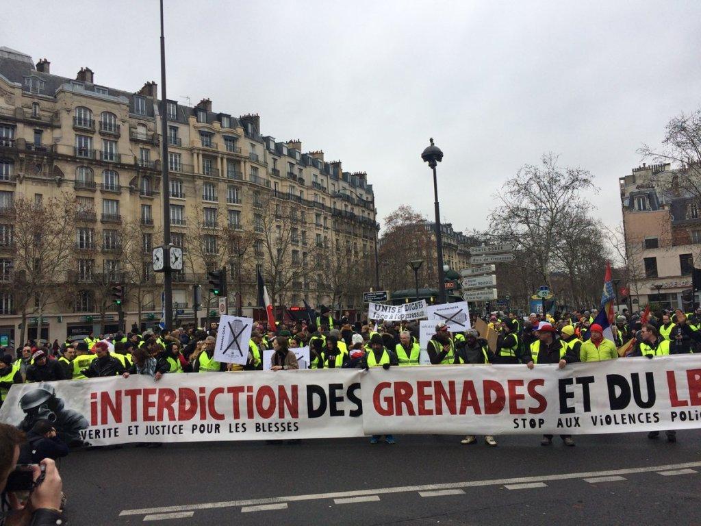 Gilets jaunes, acte XII : 58600 personnes mobilisées contre les violences policières