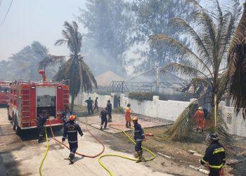 Hua Hin : un incendie dévaste un resort, les touristes et le personnel en sécurité