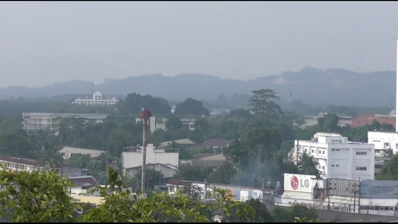 Thailand's far south covered by smog from Indonesia