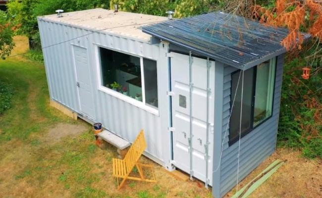 A 20ft Shipping Container Home Built For Under 15k