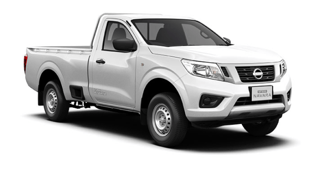 nissan np300 navara single cab white solid