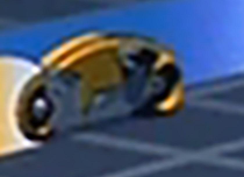 Tron - Lightcycle blu di Sark e arancione - particolare rielaborato