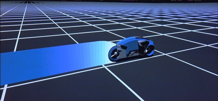 Tron - Lightcycle blu di Sark