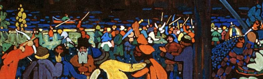 Vasilij Vasil'evič Kandinskij - Das bunte Leben (La vita variopinta) - particolare