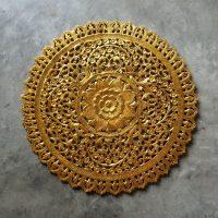 Buy Mandala Wood Carving Wall Panel Decor, Mandala Wall ...