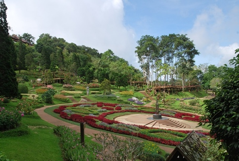 Mae Fah Luang Royal Flower Garden, flower garden of the royal mother on Doi Tung