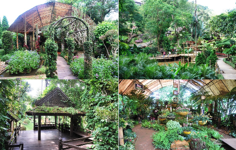 Mae Fah Lung Royal Flower Garden, Doi Tung, Works and Places, Collage