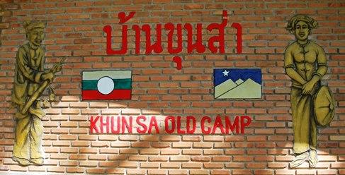 Khun Sa's former MTA /SSA army camp in Ban Therd Thai