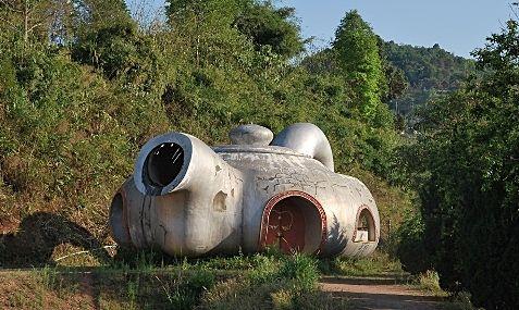"Larger-than-life teapot, part of Doi Mae Salong's ""tea monument""ist"