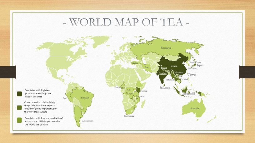 World Map of Tea Cultivation