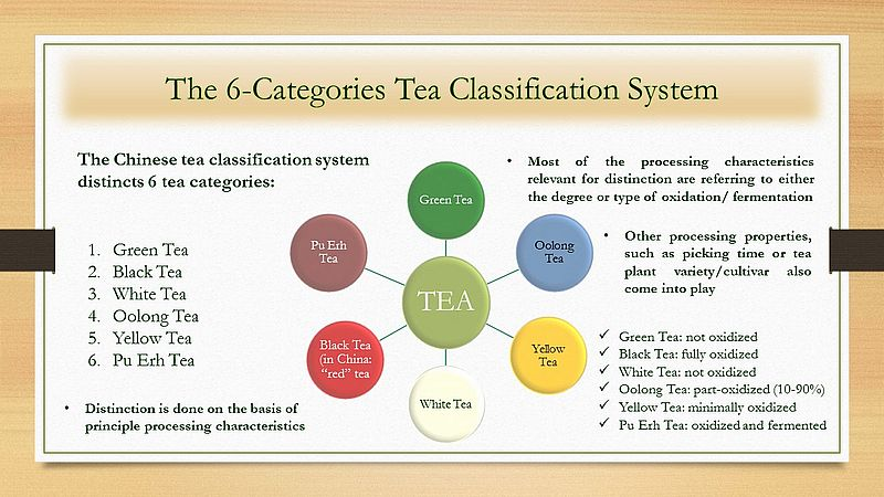 The Chinese 6-Categories Tea Classification System