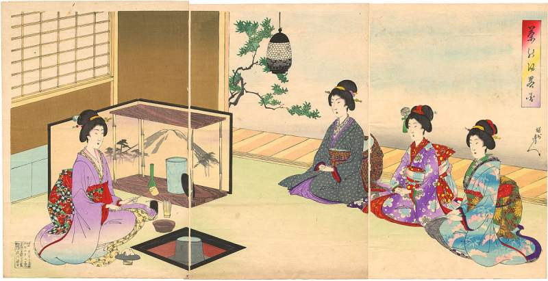 rad. Japanese Tea Ceremony - strict rules of procedure and conduct