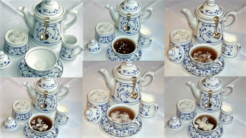 East Frisian tea preparation / East Frisian tea ceremony