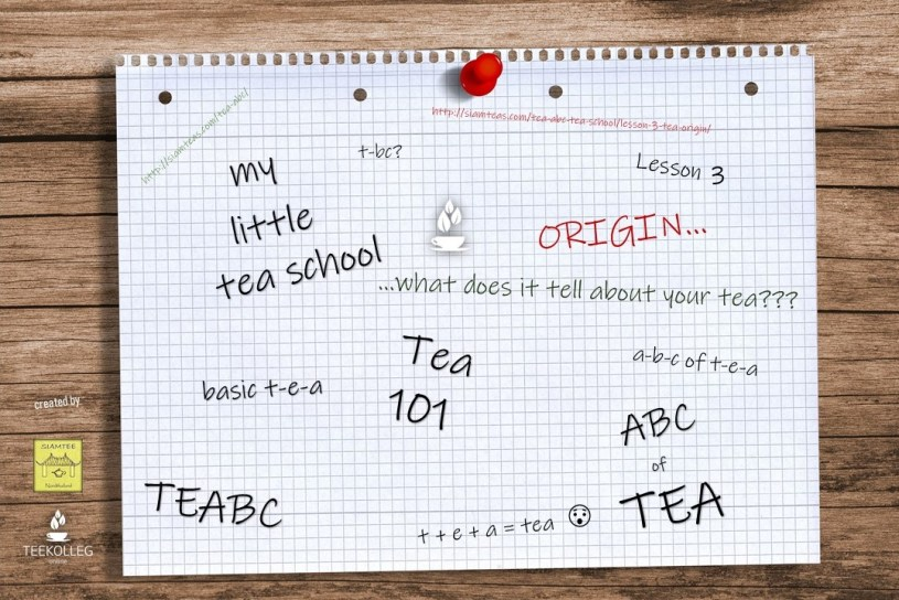 My Little Tea School - The ABC of TEA, Lesson 3 : ORIGIN - What does it tell about your Tea?