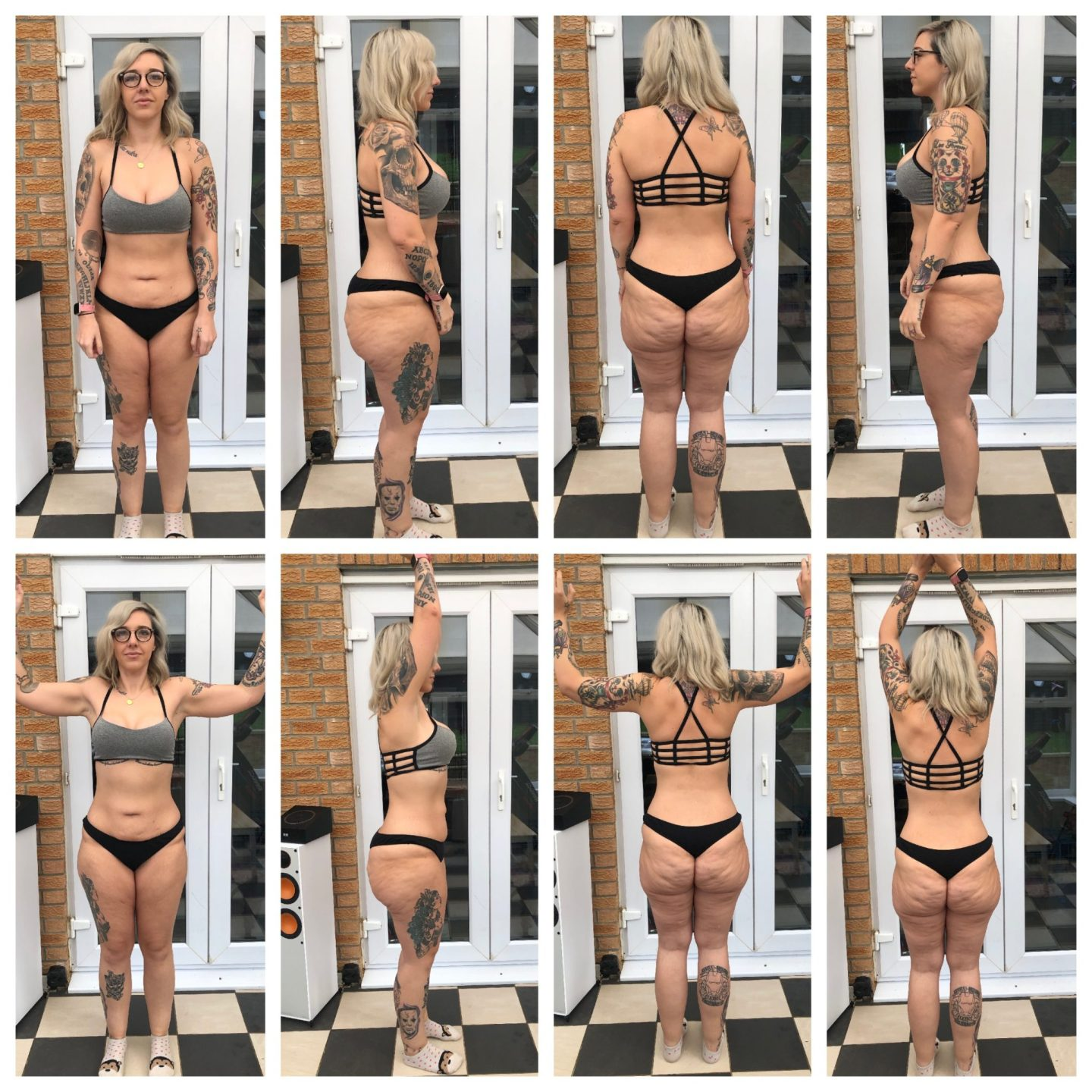Body Physique photos - Girl standing in all angles to show current body