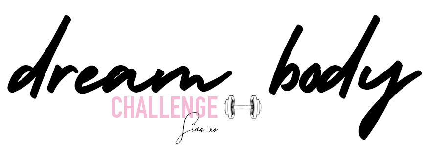 Dream Body Challenge logo with a dumbbell