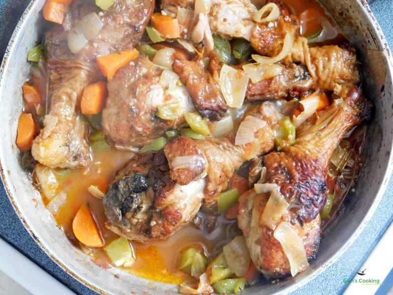 Brown Stew Chicken Recipe (Jamaican- style Chicken Fricassee)