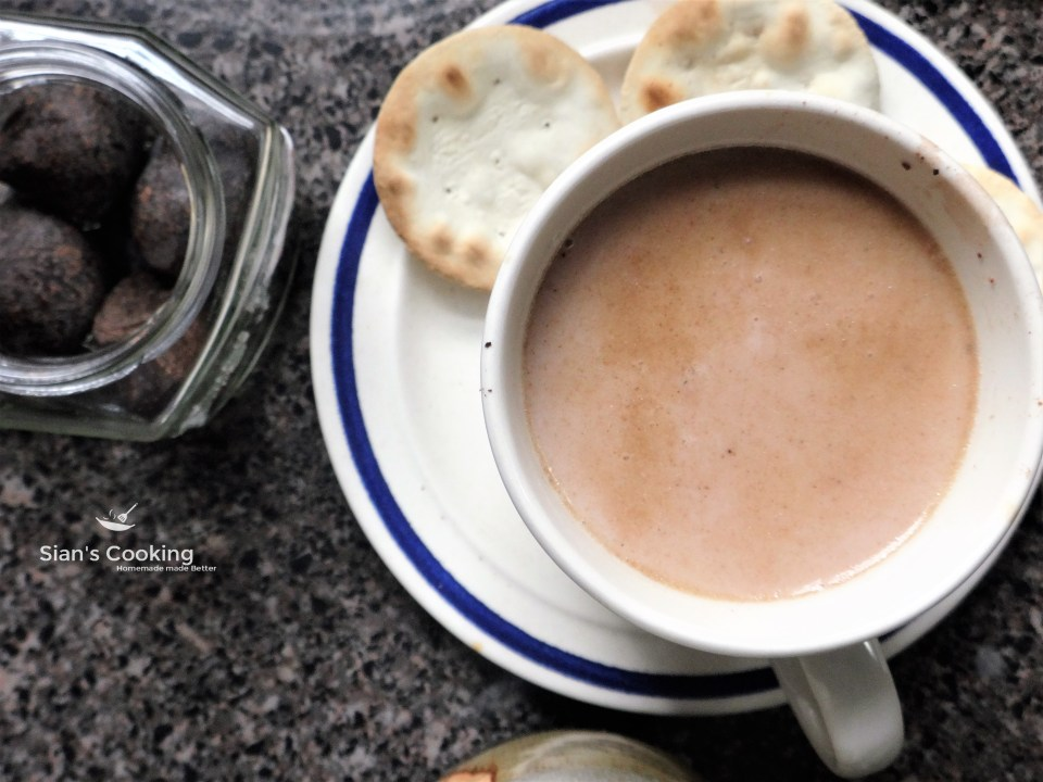 Jamaican hot chocolate tea