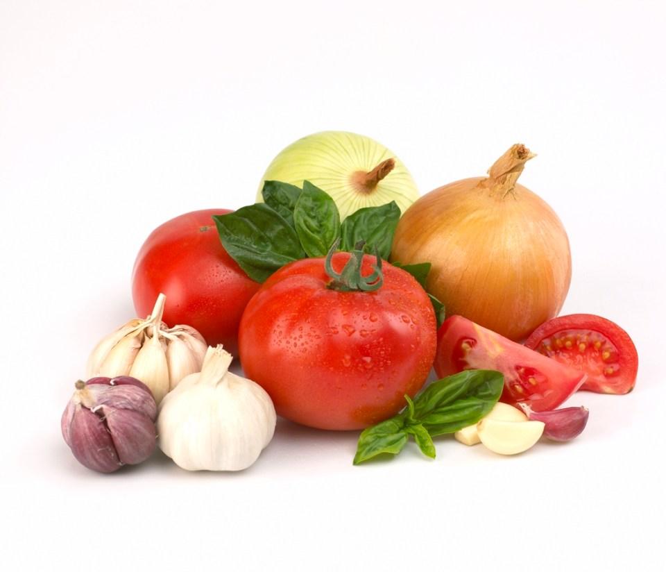 Fresh herbs and veggies
