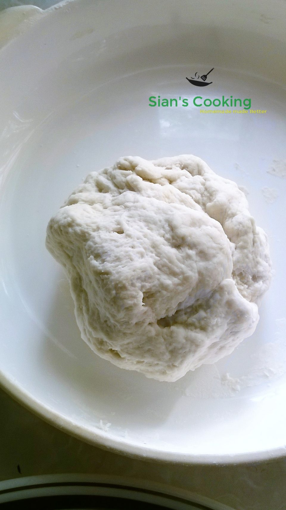 Kneaded dumpling dough
