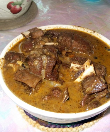 stewed goat meat
