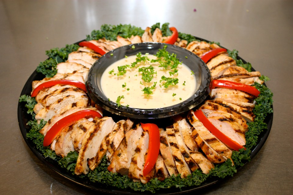 Jerk chicken breast platter