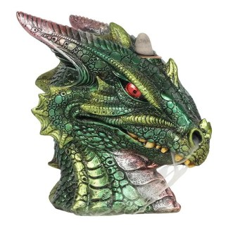 large green dragon head backflow lit