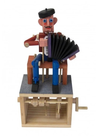 Painted Accordion player