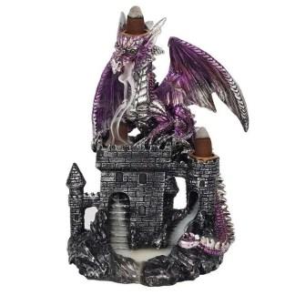purple dragon on castle backflow