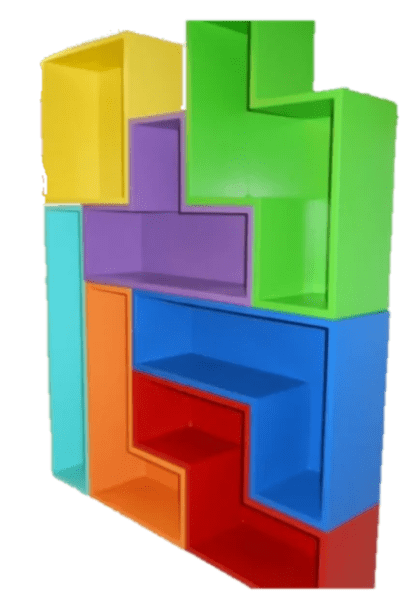 Bigger Tetris like wall shelf unit
