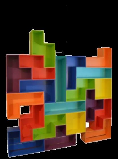 Tetris like wall unit arrangement
