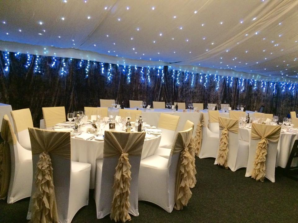chair covers telford christmas hat wedding party venue decor services sians special occasions we also have avilable chiffon drop sashes for use without 1 50 each