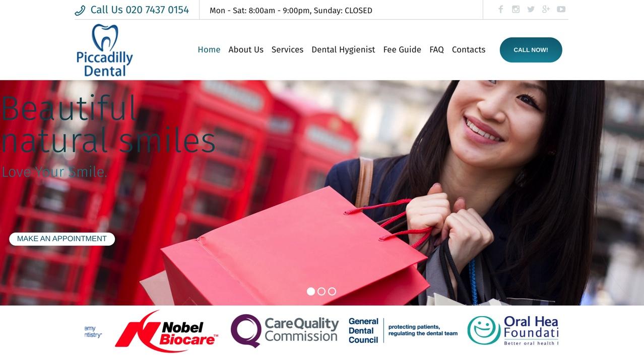 piccadilly dental website
