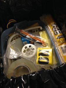 Emergency supplies.