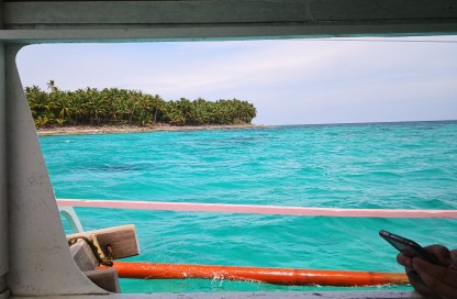 Crystal clear waters of Siargao during our island hopping