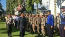 Bupati Pasaman Yusuf Lubis Pimpin Apel Gelar Pasukan Operasi Ketupat 2018