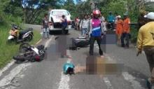 Lago Kambiang Sepeda Motor di Padang Panjang, 1 Meninggal 3 Luka-luka